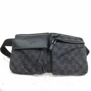 Gucci Charcoal Belt Bag Fanny Pack Waist Pouch